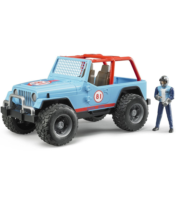 Jeep Cross Country Race blu con pilota Bruder